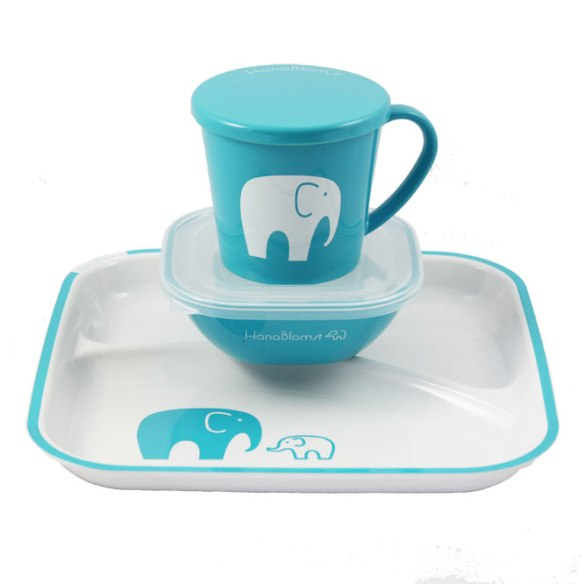 Hanablomst-kids-dinner-set-Elephant-blue