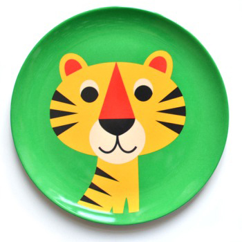 Ingela P Arrhenius tiger plate The Pippa & Ike Show