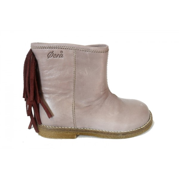 ocra-800-boots-cuir-rose-bordeau