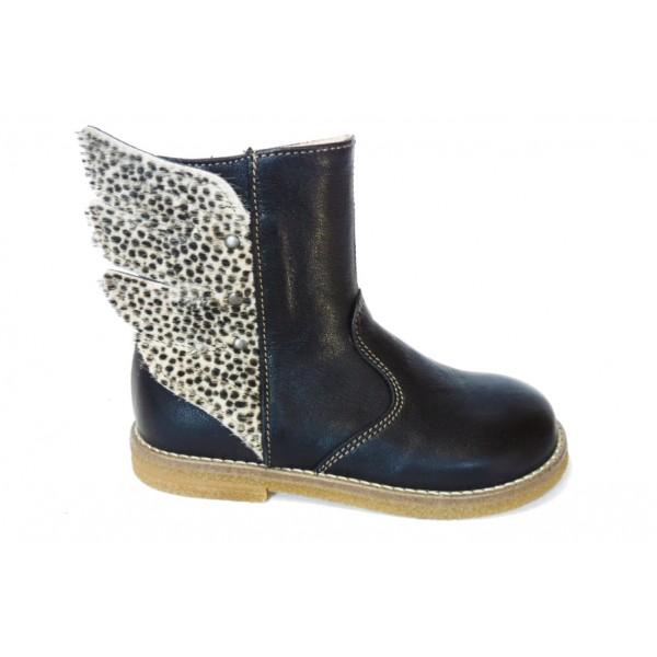 ocra-873-boots-cuir-noir-leopard