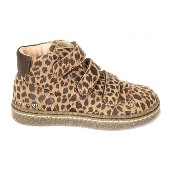 ocra-981-bottines-velcros-cuir-leopard