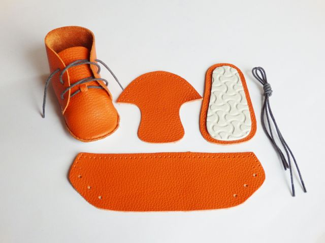 first-baby-shoes-orange